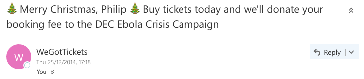We got tickets emoji in email subject line example