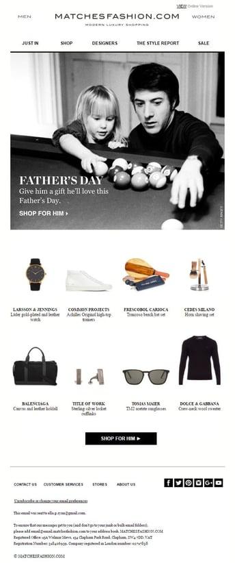 Matches Fashion email marketing