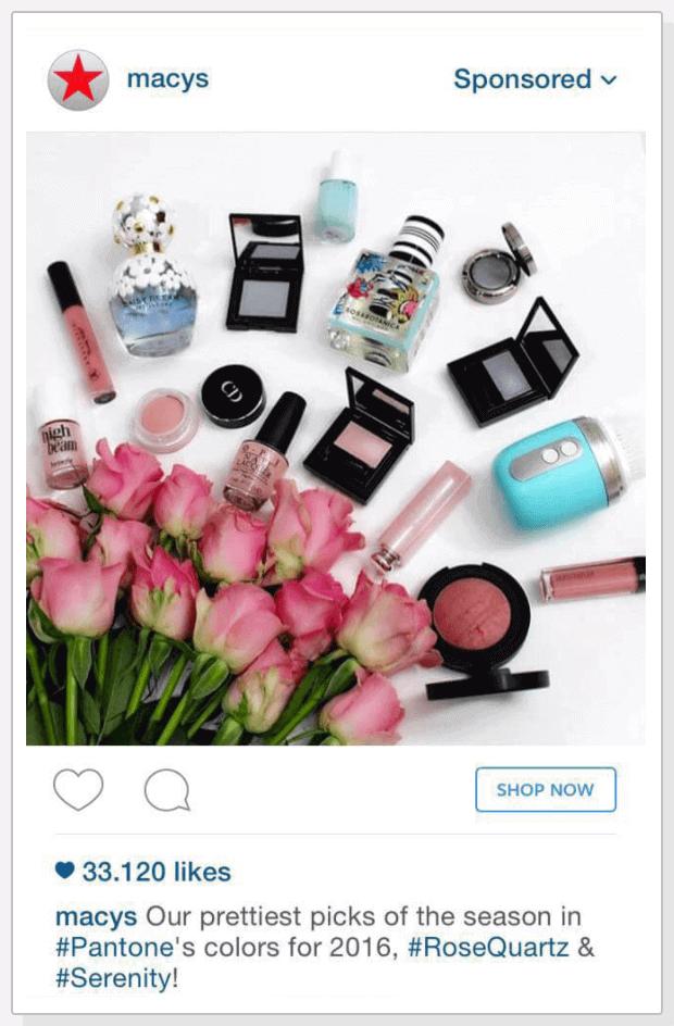 macys instagram paid social ad