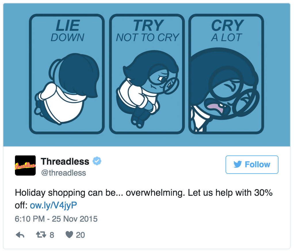 Threadless Twitter ad